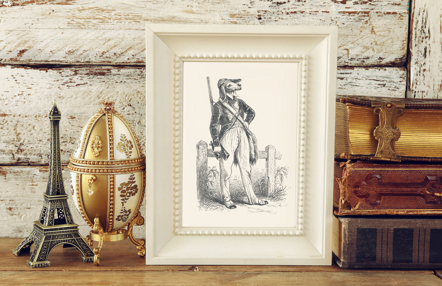 The Hunter Art Print - Animal Illustrations Wall Art Collection-Di Lewis