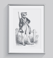 The Hunter Illustration Art Print Di Lewis Living Room Wall Decor