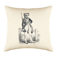 The Hunter Throw Pillow Cover - Animal Illustrations Throw Pillow Cover Collection-Di Lewis
