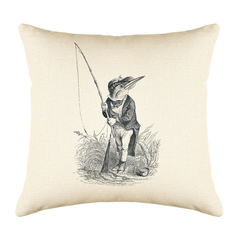The King Fisher Throw Pillow Cover