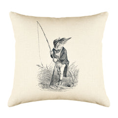 The King Fisher Throw Pillow Cover - Animal Illustrations Throw Pillow Cover Collection