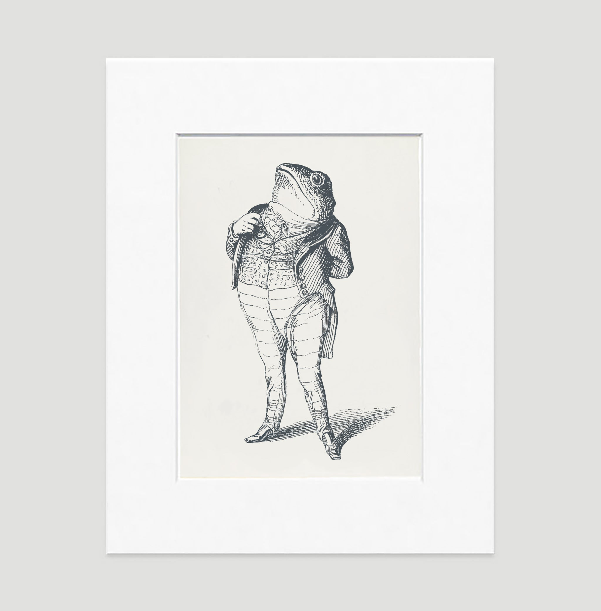 The Patriotic Frog Illustration Art Print Di Lewis Living Room Wall Decor