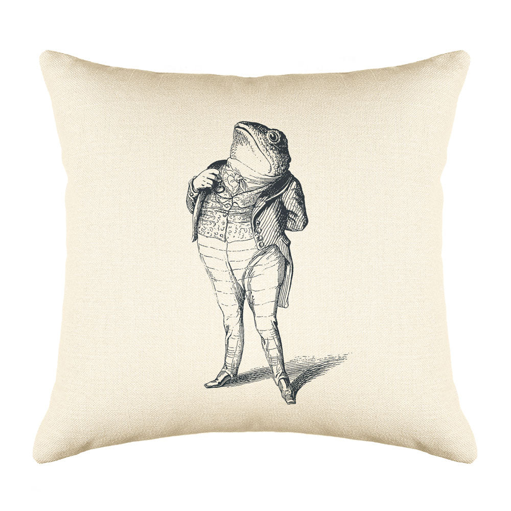 The Patriotic Frog Throw Pillow Cover - Animal Illustrations Throw Pillow Cover Collection-Di Lewis