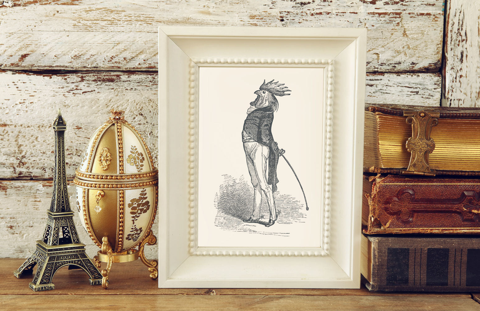 The Proud Cock Art Print - Animal Illustrations Wall Art Collection-Di Lewis