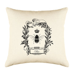 The Queen Bee Throw Pillow Cover