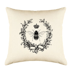 Napoleonic Bee Throw Pillow Cover