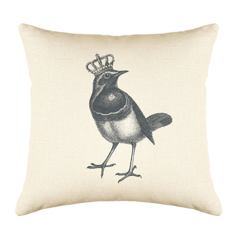 The Royal Robin Throw Pillow Cover