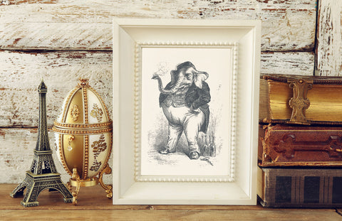 The Smoking Elephant Art Print
