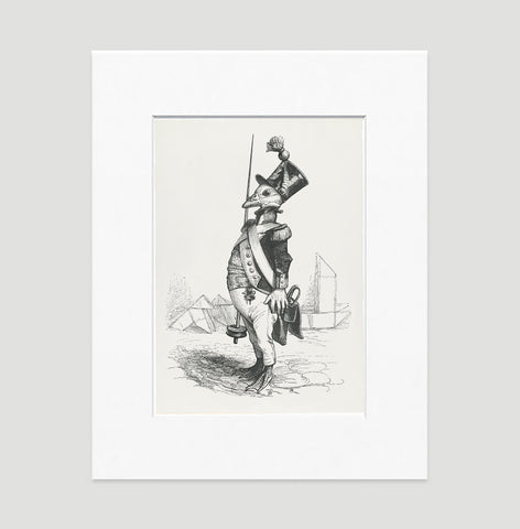 The Three Star Sergeant Art Print - Animal Illustrations Wall Art Collection-Matted-Di Lewis
