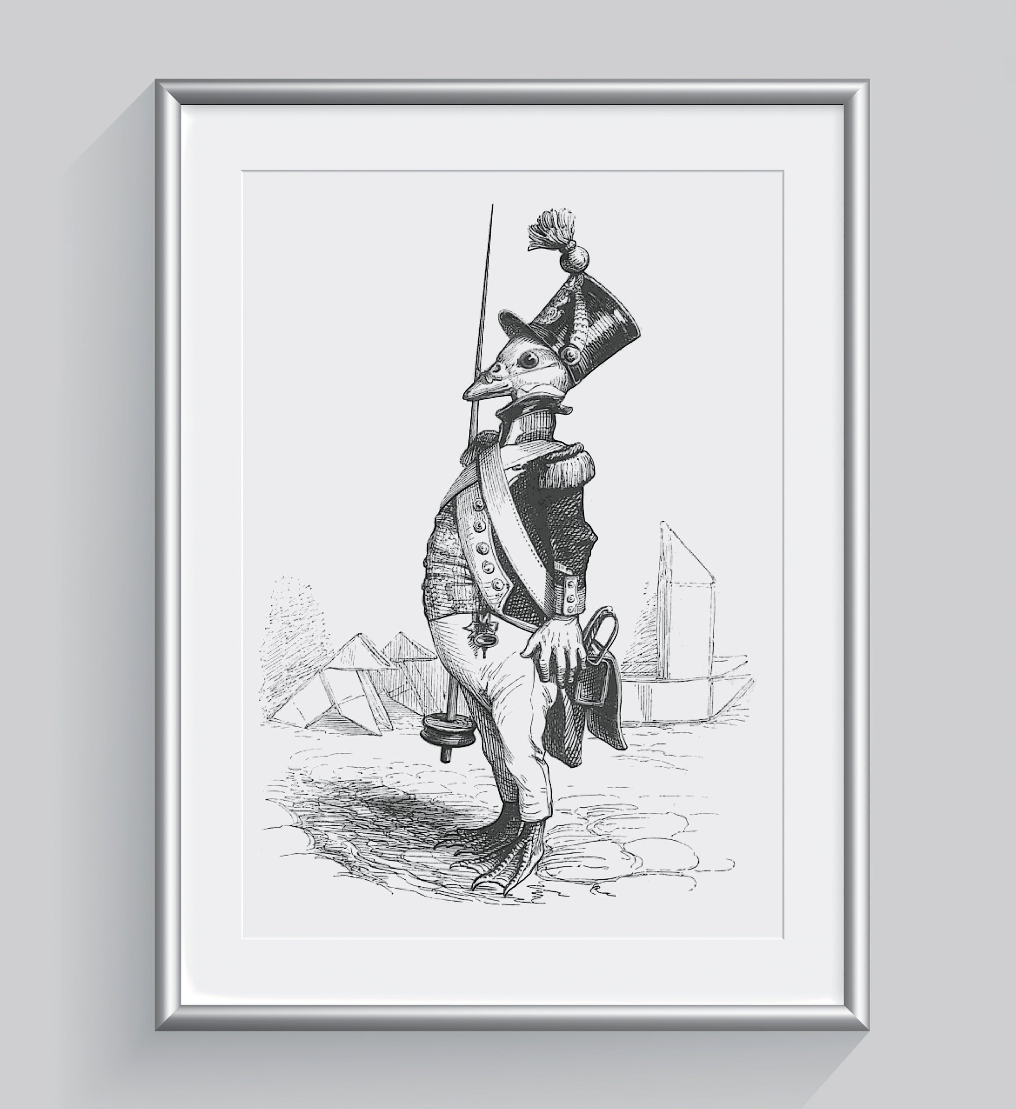 The Three Star Sergeant Art Print - Animal Illustrations Wall Art Collection-Di Lewis