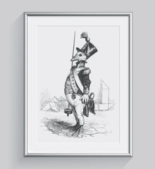 The Three Star Seargant Illustration Print Di Lewis Living Room Wall Decor