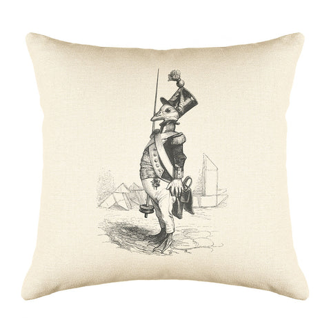 The Three Star Sergeant Throw Pillow Cover - Animal Illustrations Throw Pillow Cover Collection-Di Lewis