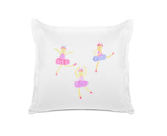 Ballet Royale personalized kids euro sham, Di Lewis, Kids Bedding, Kids Bedroom Decor