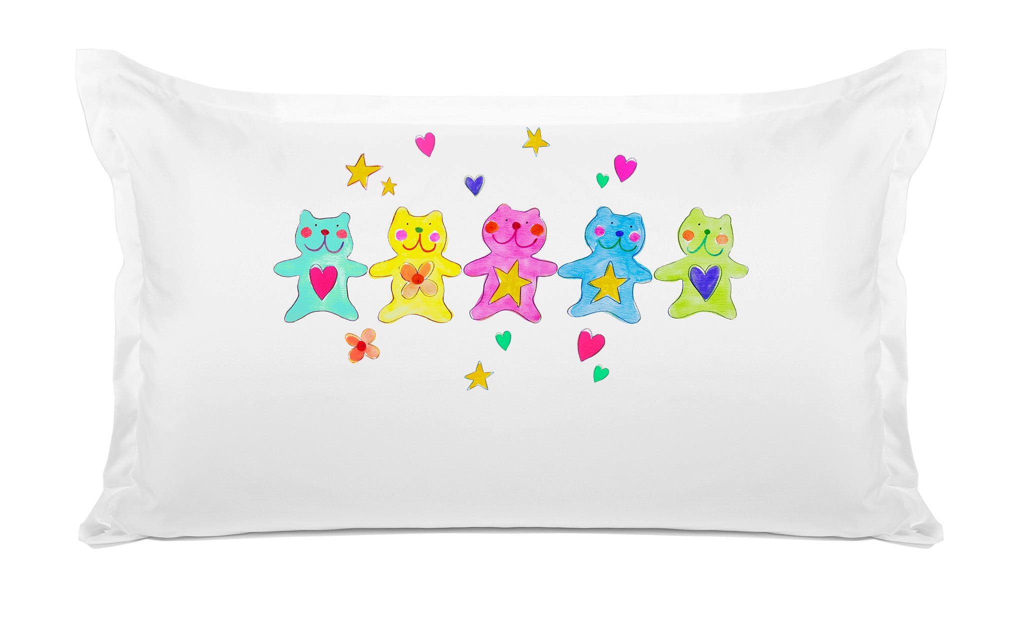 The Bears Personalized Kids Pillow, Di Lewis Kids Bedding