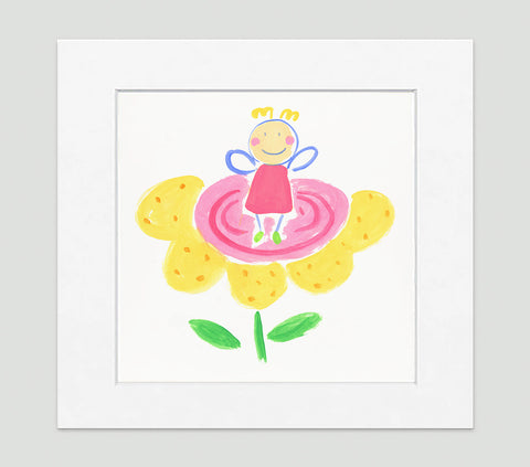 The Flower Fairy Art Print - Kids Wall Art Collection-Di Lewis