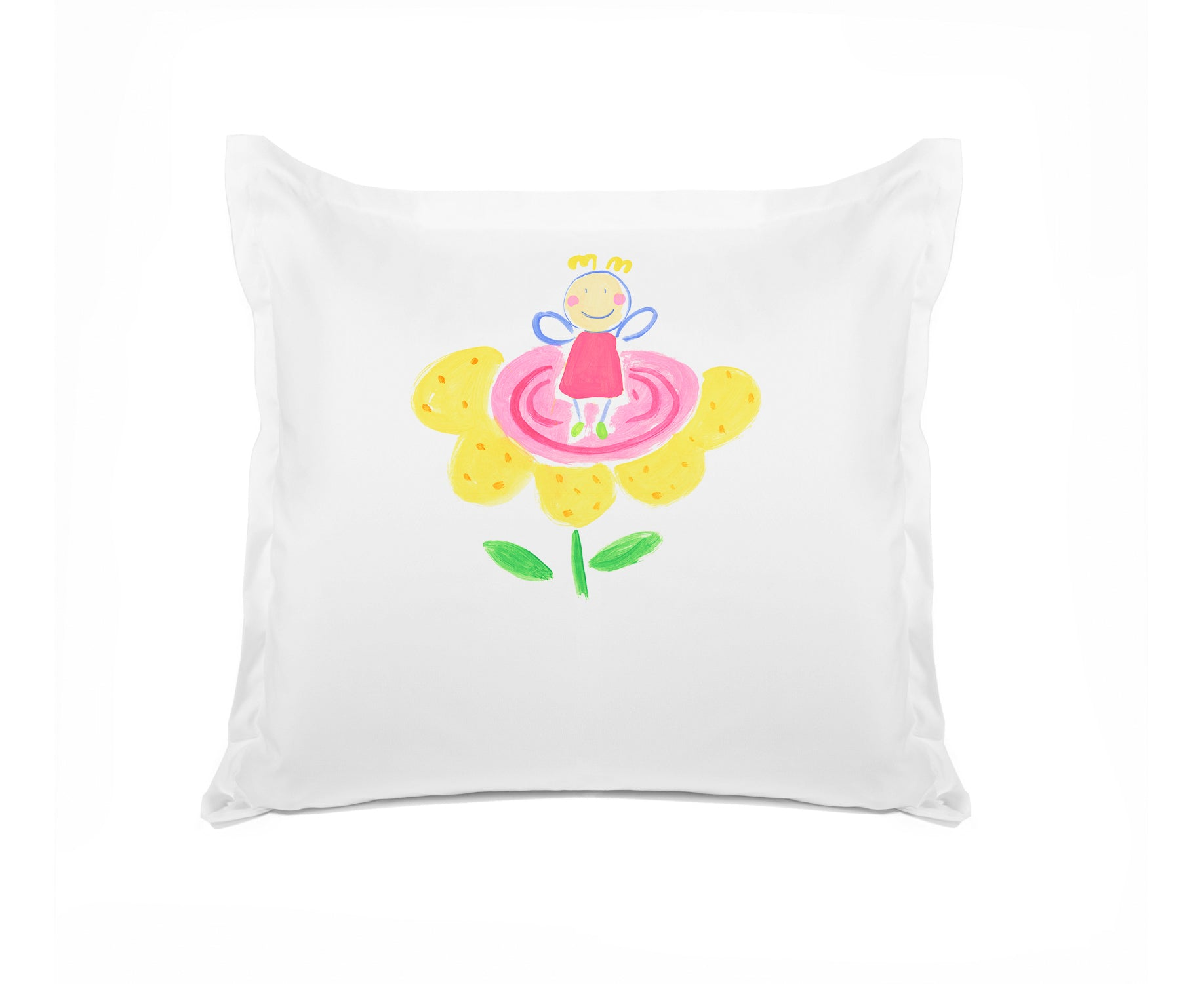 The Flower Fairy Personalized Kids Euro Sham, Di Lewis Girls Bedding