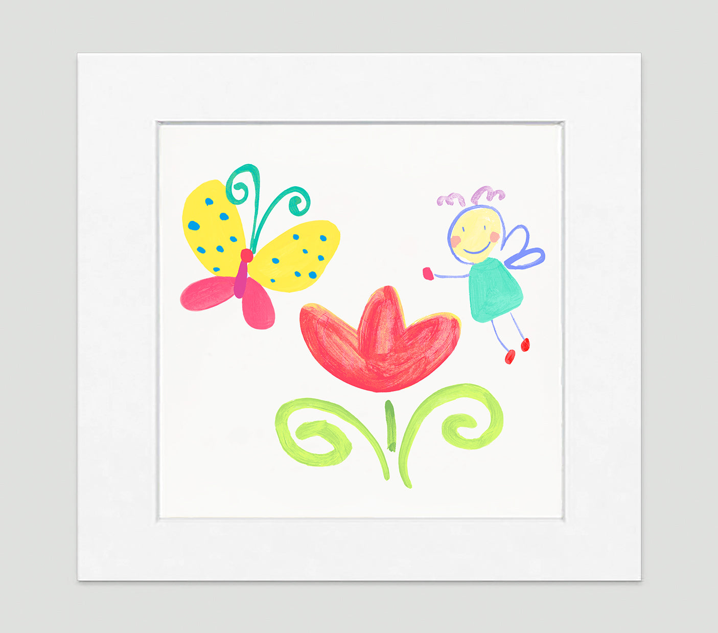 The Garden Fairy Art Print - Kids Wall Art Collection-Di Lewis