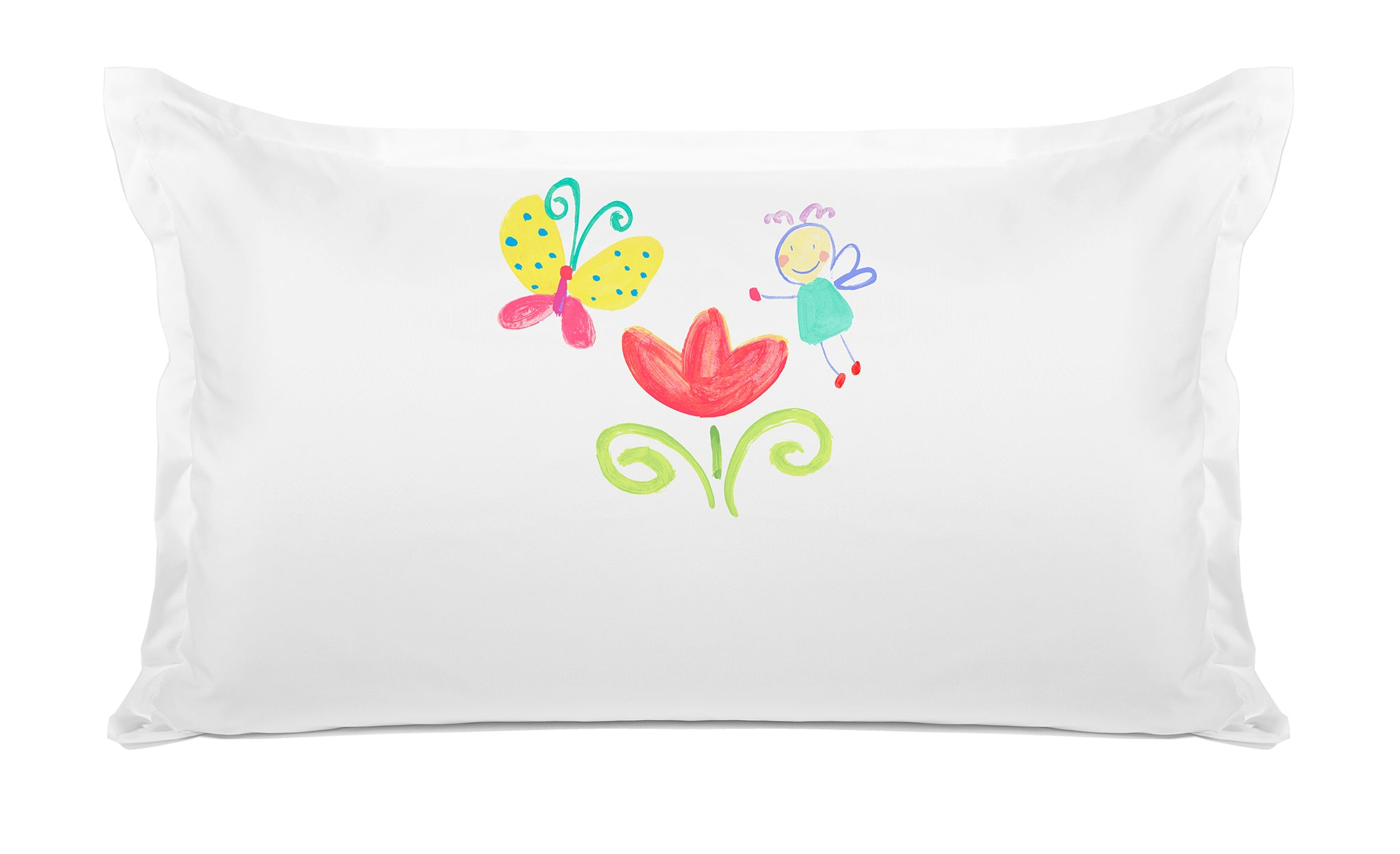 The Garden Fairy Personalized Kids Pillow, Di Lewis Girls Bedding