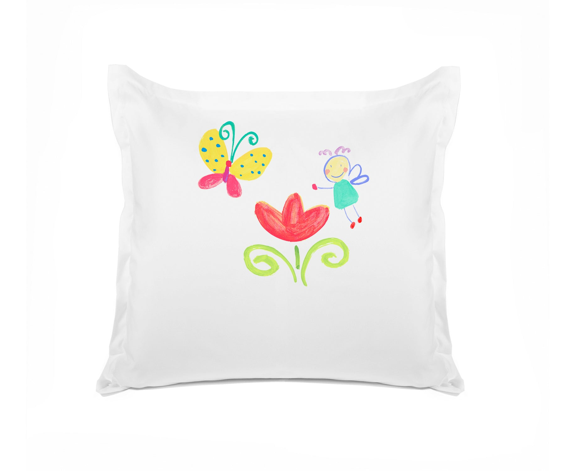 The Garden Fairy Personalized Kids Euro Sham, Di Lewis Girls Bedding
