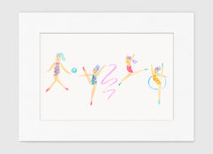 The Gymnasts Art Print - Kids Wall Art Collection-Di Lewis