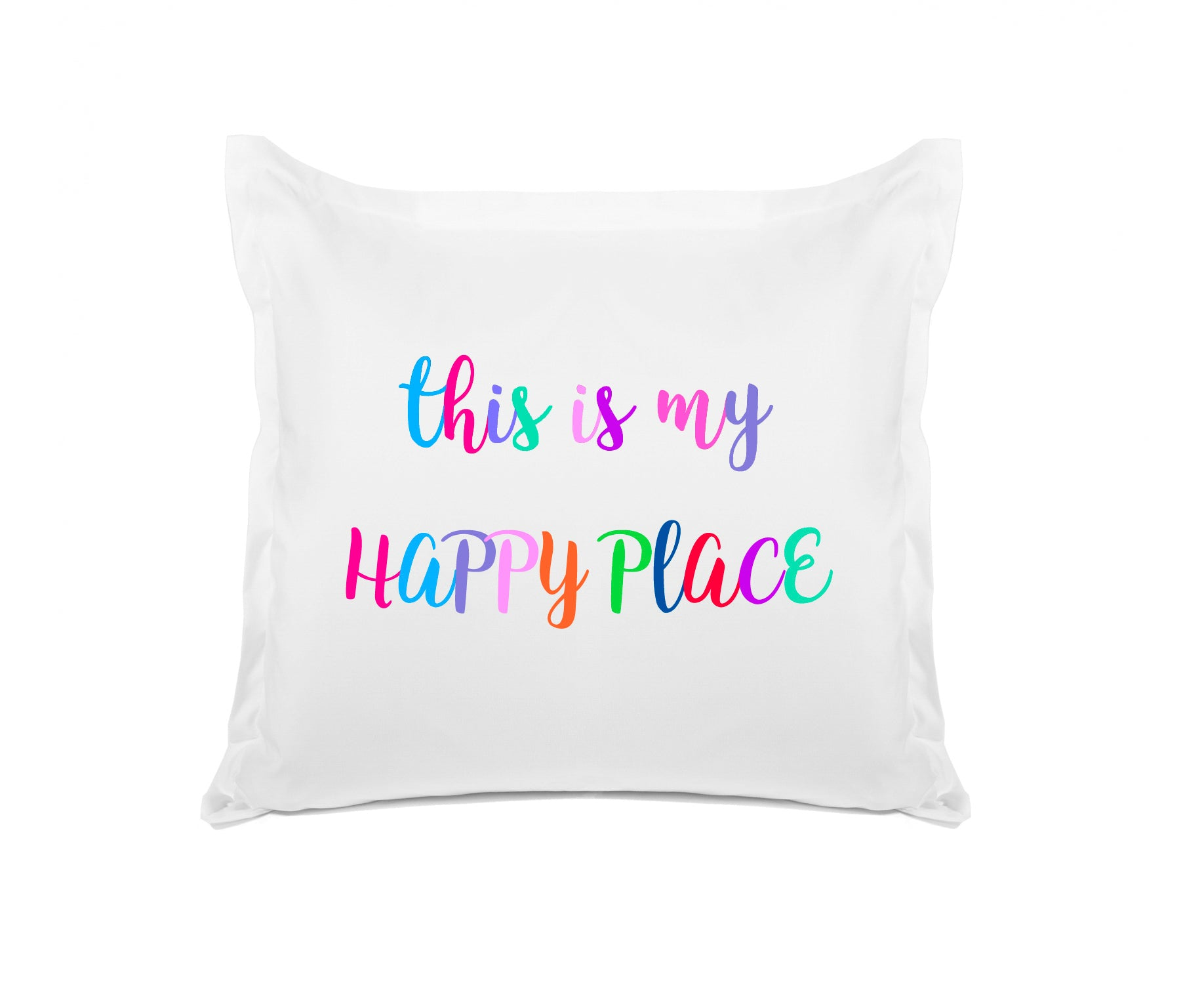 This is my happy place pillow with saying Di Lewis bedroom decor