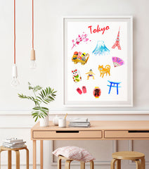 Tokyo Art Print - Travel Print Wall Art Collection-Di Lewis