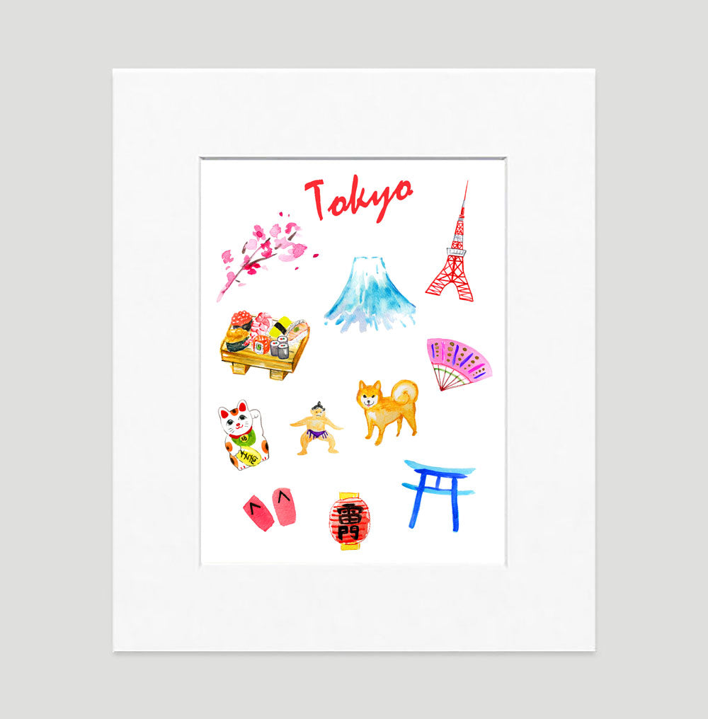 Tokyo Art Print - Traveler Prints Wall Art Collection