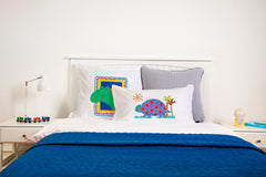 Tommy Tortoise Kids Pillow, Di Lewis Girls Bedding, Boys Bedding