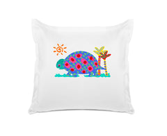 Tommy Tortoise Personalized Kids Euro Sham, Di Lewis Girls Bedding, Boys Bedding