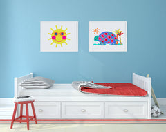 Tommy Tortoise Art Print - Kids Wall Art Collection-Di Lewis