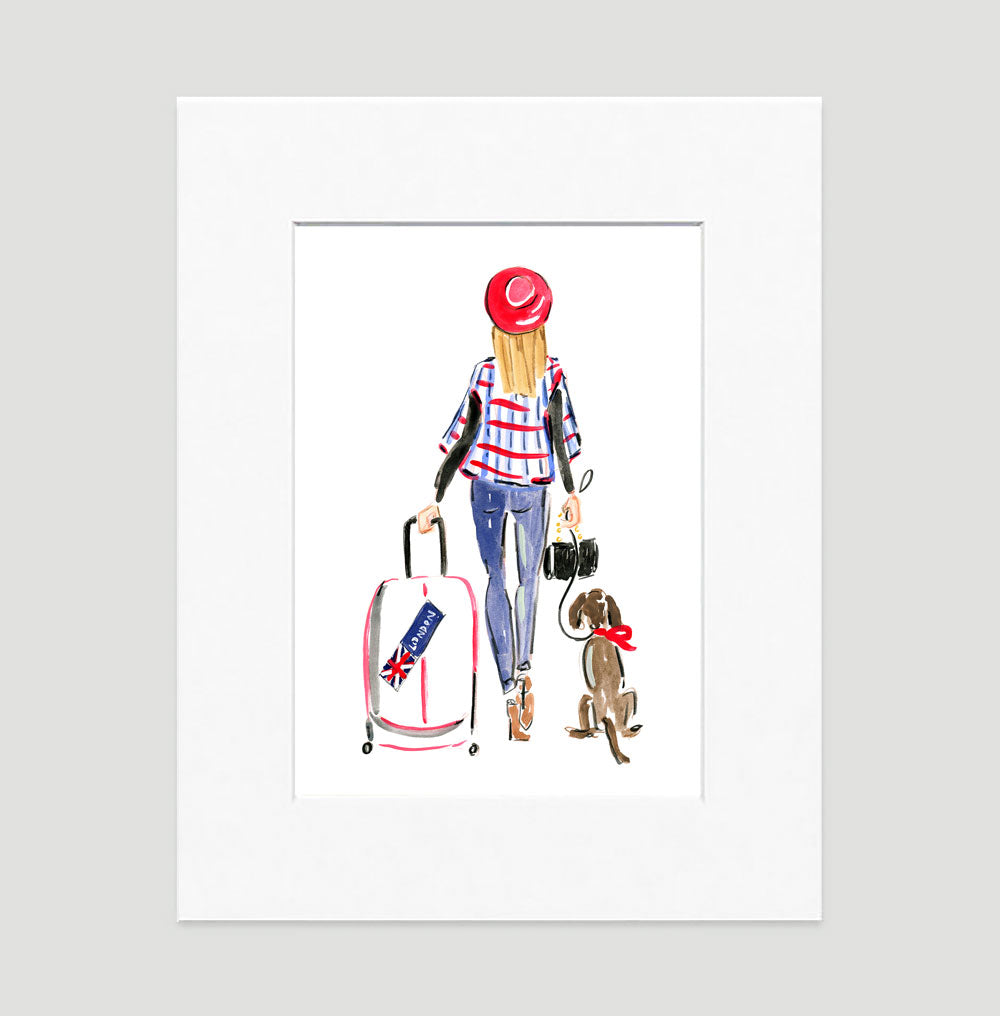 Toodle Loo Art Print - Fashion Illustration Wall Art Collection-Di Lewis
