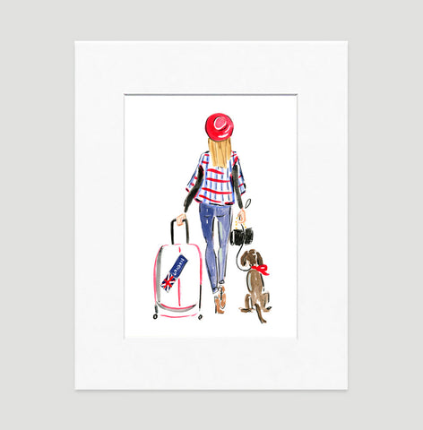 Toodle Loo Art Print - Fashion Illustration Wall Art Collection-Matted-Di Lewis