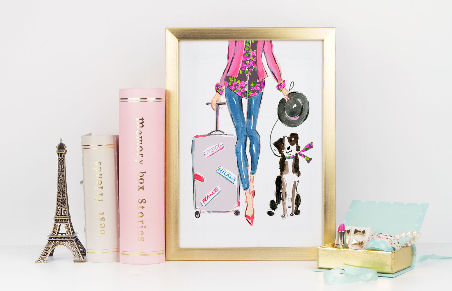 Travel Chic Art Print - Fashion Illustration Wall Art Collection