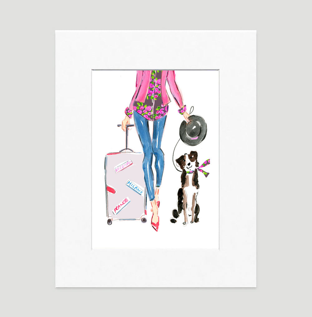 Travel Chic Art Print - Fashion Illustration Wall Art Collection-Di Lewis