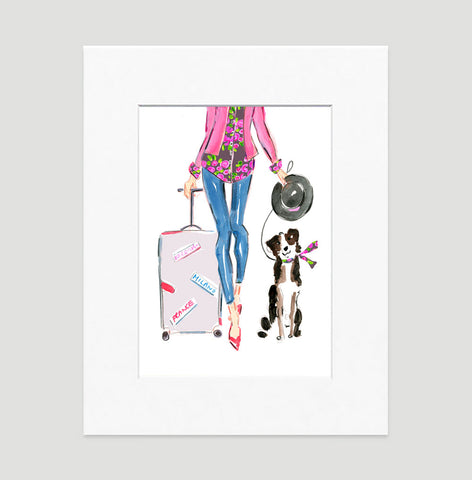 Travel Chic Art Print - Fashion Illustration Wall Art Collection-Matted-Di Lewis