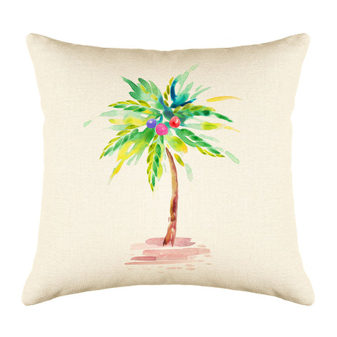 Tropical Palm Tree Throw Pillow Cover - Coastal Designs Throw Pillow Cover Collection-Di Lewis