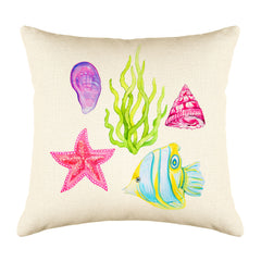 Under the Sea Throw Pillow Cover - Coastal Designs Throw Pillow Cover Collection-Di Lewis