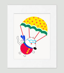 Up Up And Away Art Print - Kids Wall Art Collection-Di Lewis