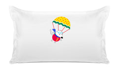 Up Up and Away Personalized Kids Pillow, Di Lewis Girls Bedding, Girls Bedding