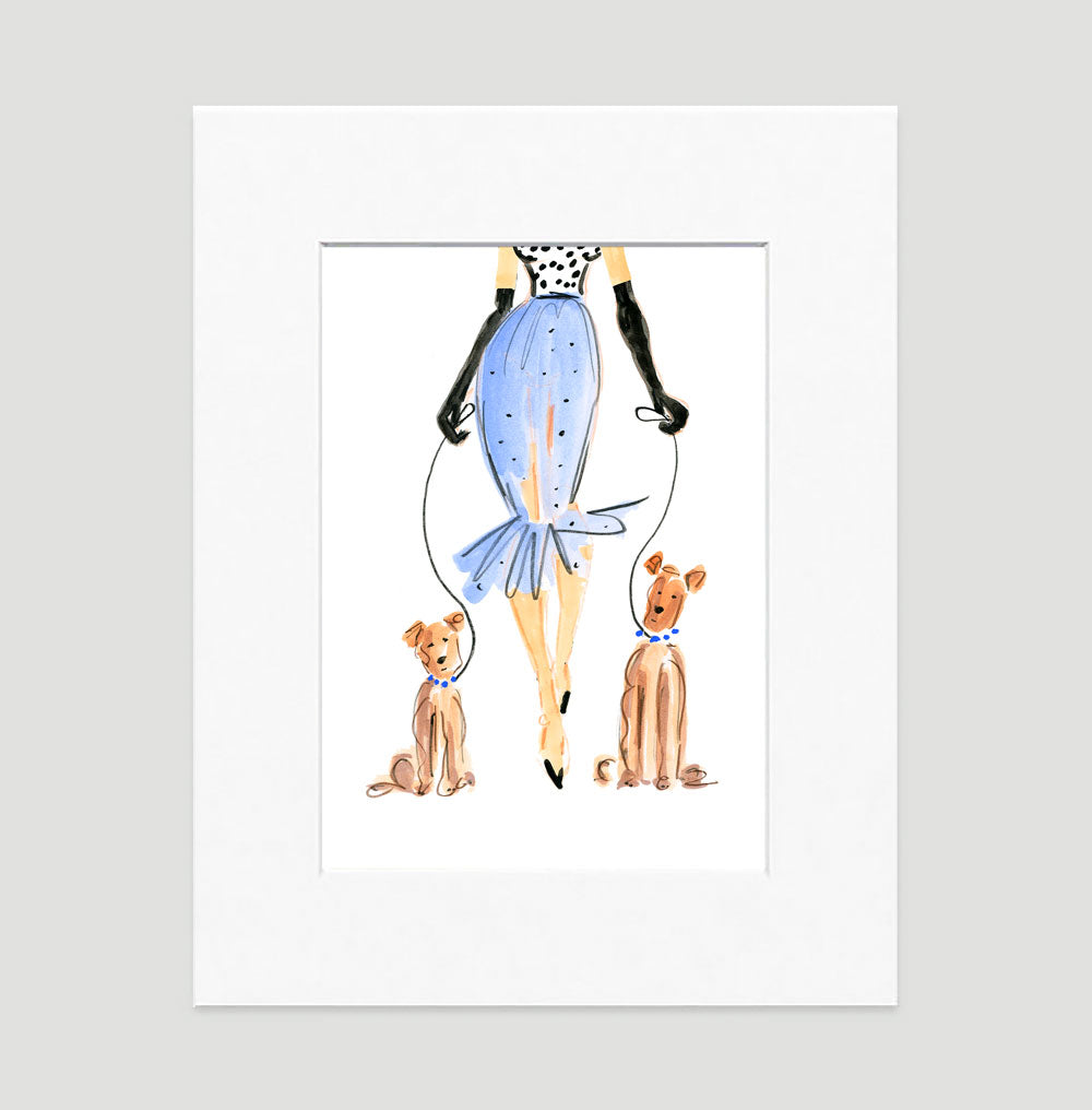Uptown Girl Art Print - Fashion Illustration Wall Art Collection-Di Lewis