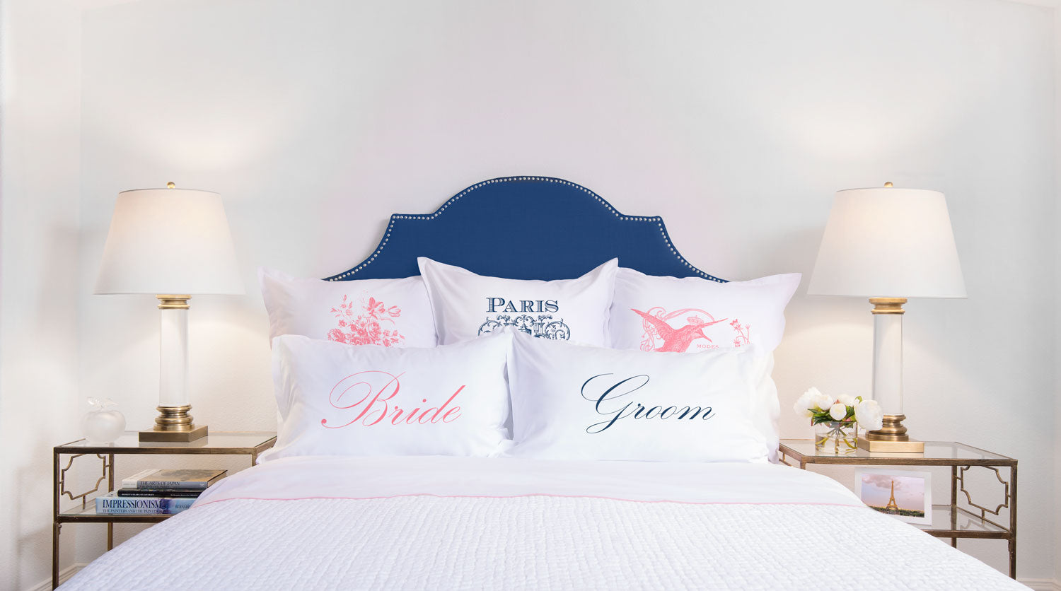 Bride, Groom - His & Hers Pillowcase Collection