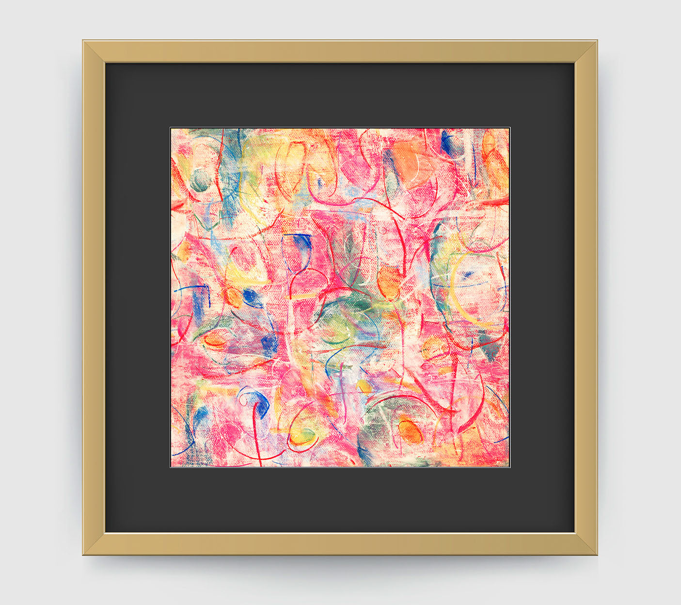 Voila Abstract Art Print Di Lewis Living Room Wall Decor