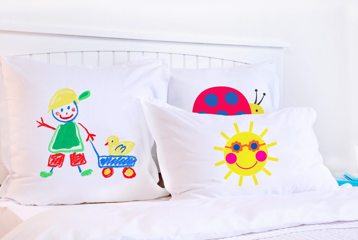 Colorful Boy and Duck - Personalized Kids Pillowcase Collection