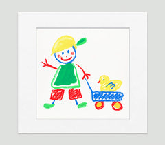 Walking The Duck Art Print - Kids Wall Art Collection-Di Lewis