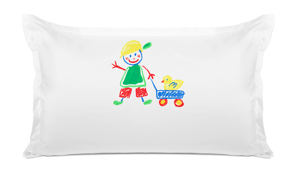 Walking the Duck Personalized Kids Pillow, Di Lewis Boys Bedding, Girls Bedding