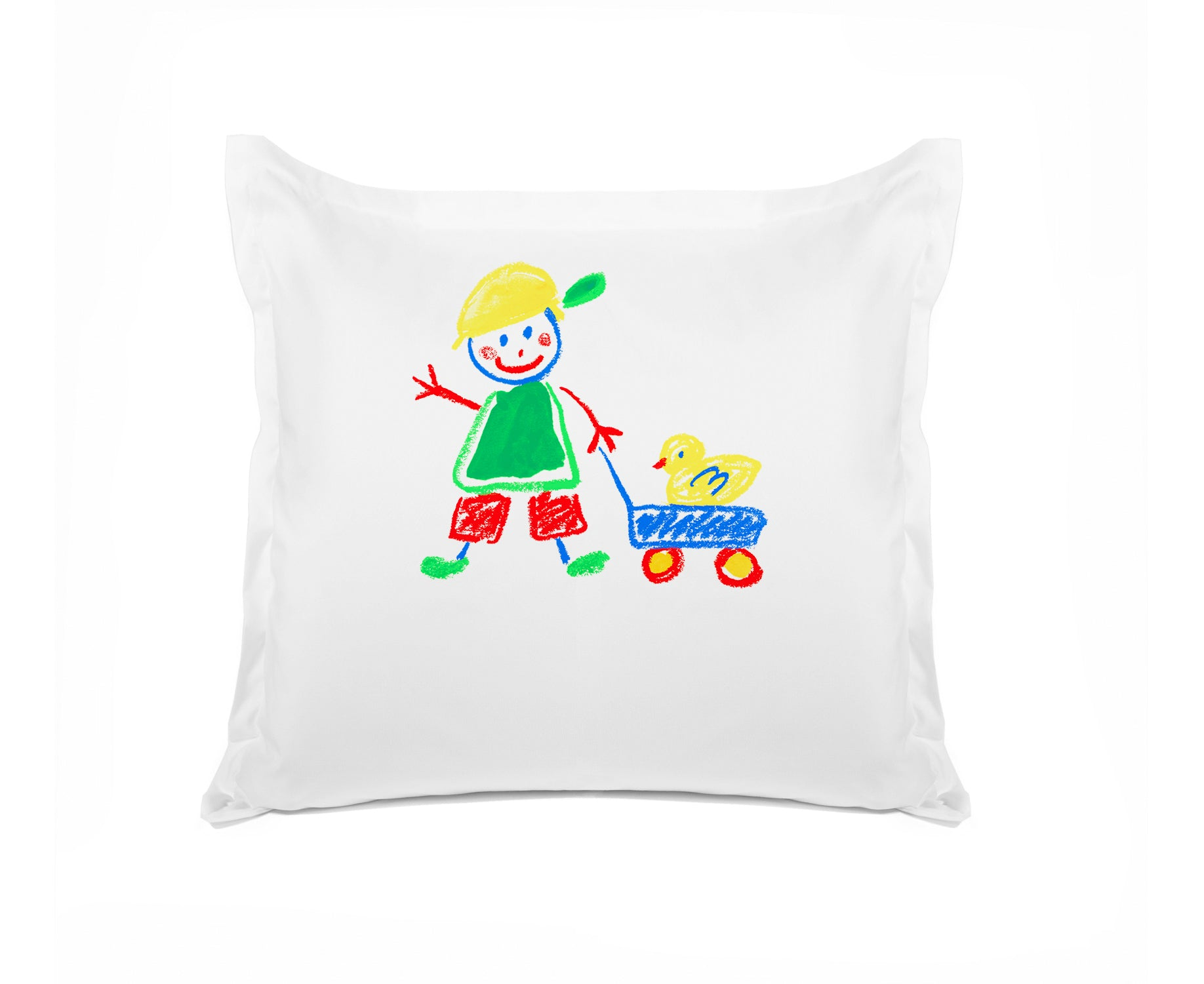 Walking the Duck Personalized Kids Euro Sham, Di Lewis Boys Bedding, Girls Bedding