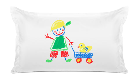 Walking the Duck Kids Pillow, Di Lewis Boys Bedding, Girls Bedding