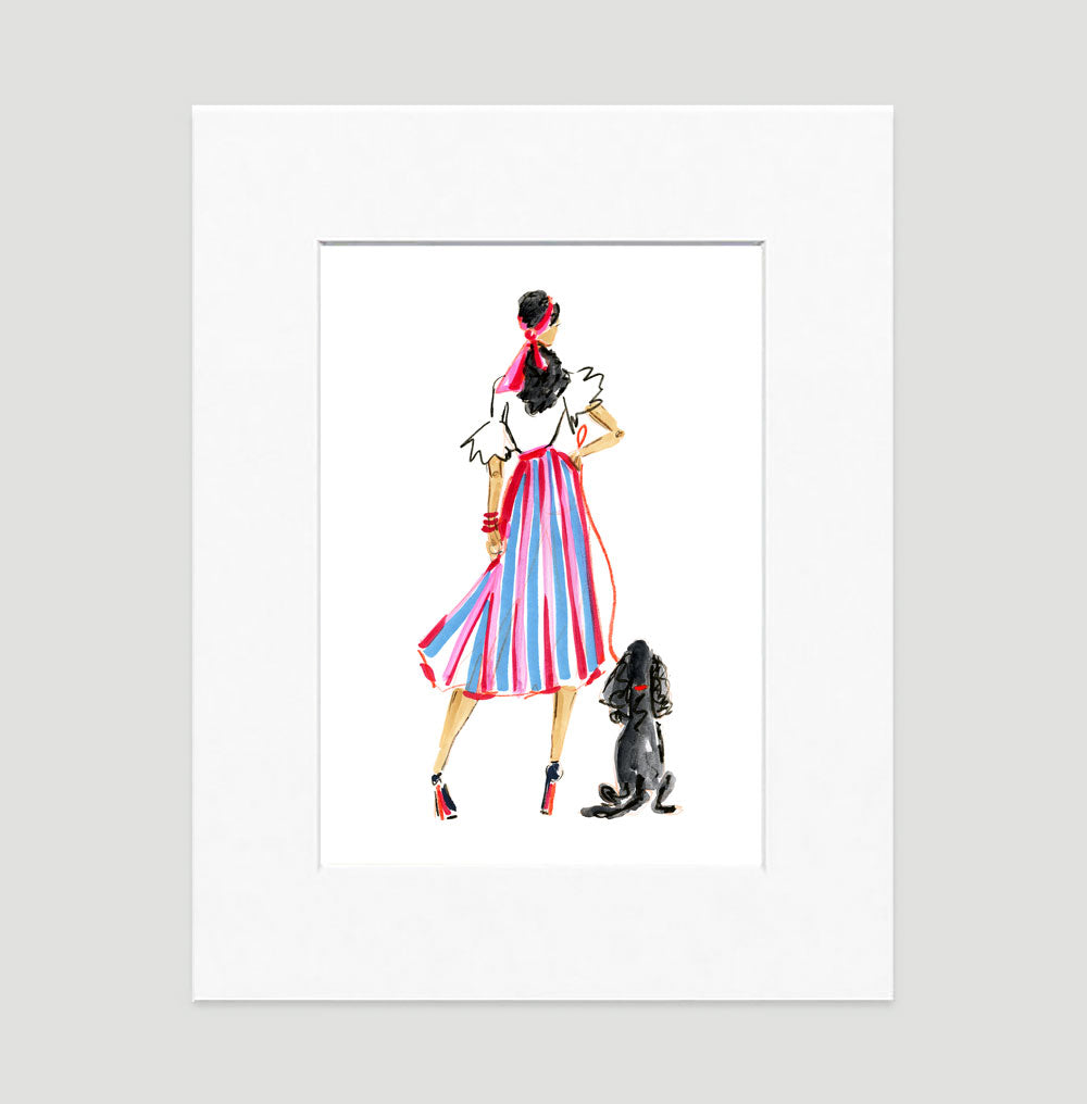 West Side Story Art Print - Fashion Illustration Wall Art Collection-Di Lewis