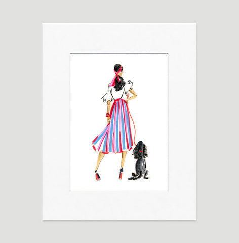 West Side Story Art Print - Fashion Illustration Wall Art Collection-Matted-Di Lewis