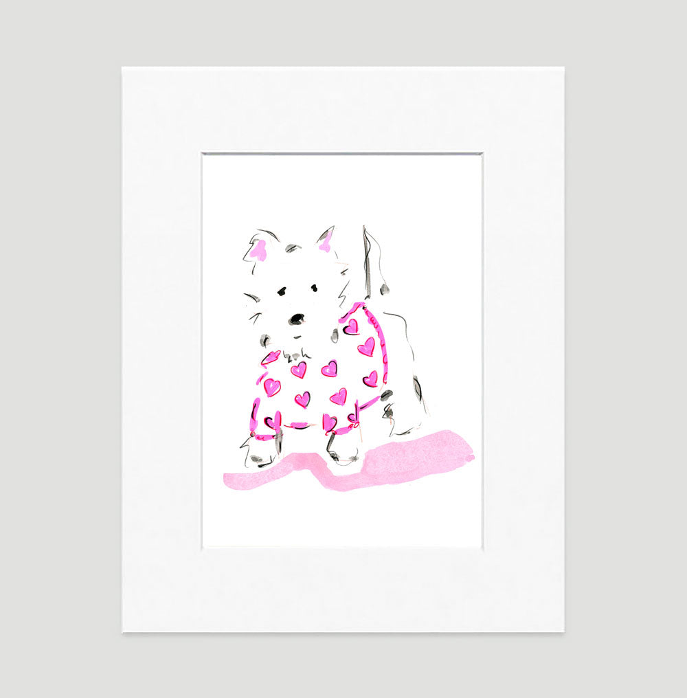 Willow Westie Art Print - Dog Illustrations Wall Art Collection-Di Lewis